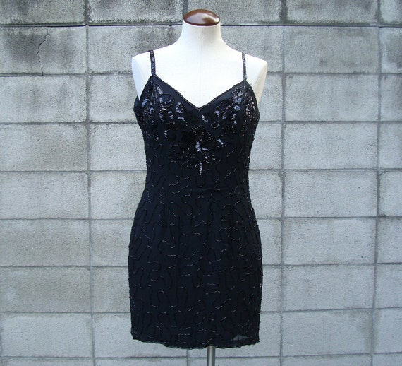 Rampage Beaded Dress Vintage 1980s Sequin Jeweled
