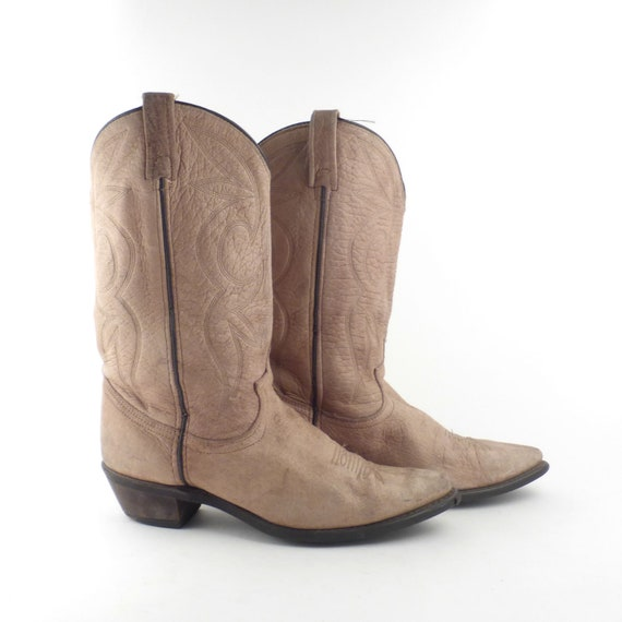 Dingo Cowboy Boots Vintage 1980s Tan Brown Cowboy