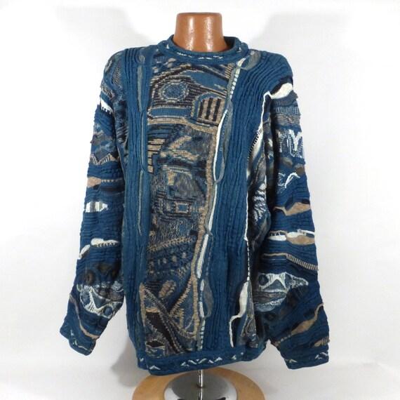 Coogi Sweater Jumper Vintage 1990s Coogi Blues Swe