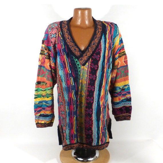 Coogi Sweater Jumper Vintage 1990s V neck Coogi Sw
