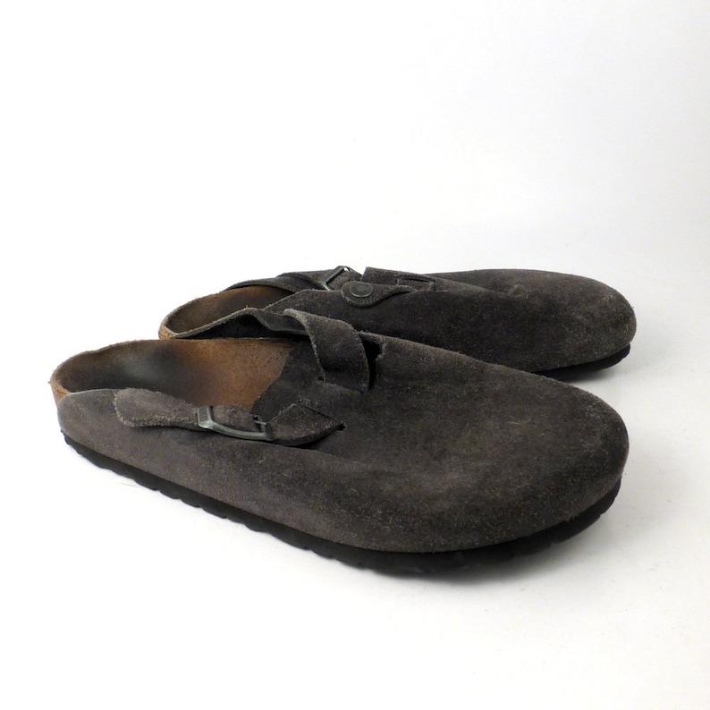 6560352c8a7f Birkenstock Sandals Vintage 1990s Suede Navy Blue Clogs Boston