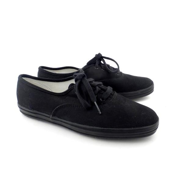 Black Keds Sneakers Vintage 1980s Shoes