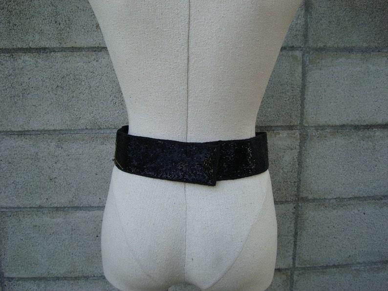Vintage 1980s Beaded Cinch Belt