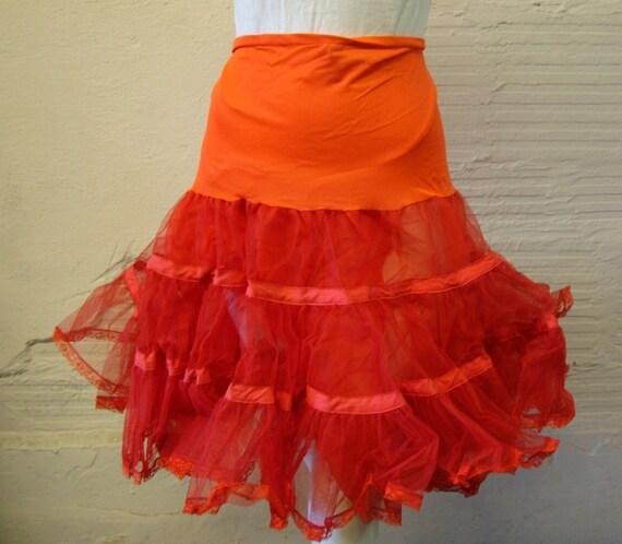Red Crinoline Vintage Full Crinoline Petticoat Adu