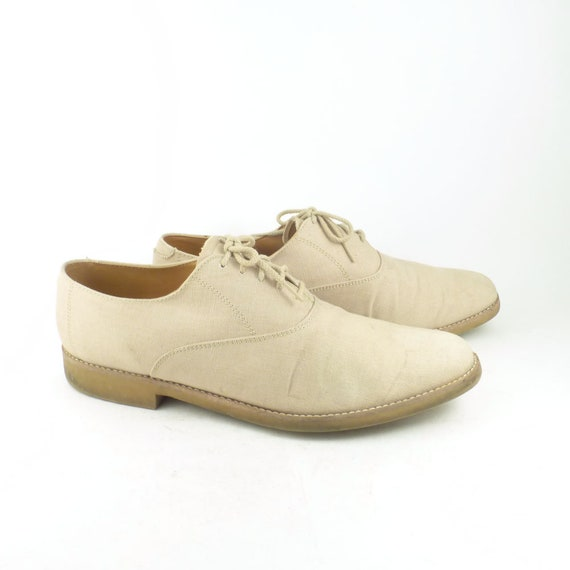 Dexter Oxfords Vintage 1980s Linen Shoes Men's siz
