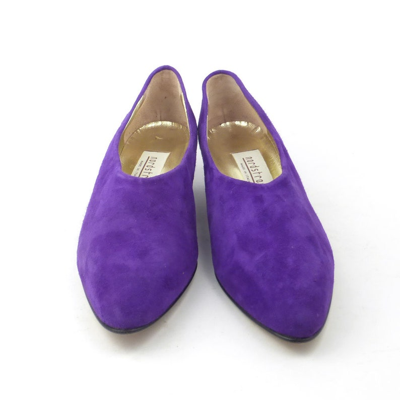 9f71a8ac6eb Nordstrom Shoes Purple Suede Flats Vintage 1980s Leather Shoes