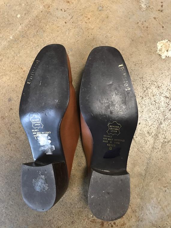 Brown Mules Clogs Vintage 1990s Winklepicker Unli… - image 4