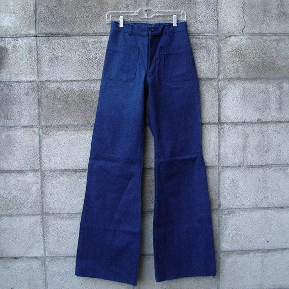 1970s Jeans Vintage High waisted  High Waist Denim