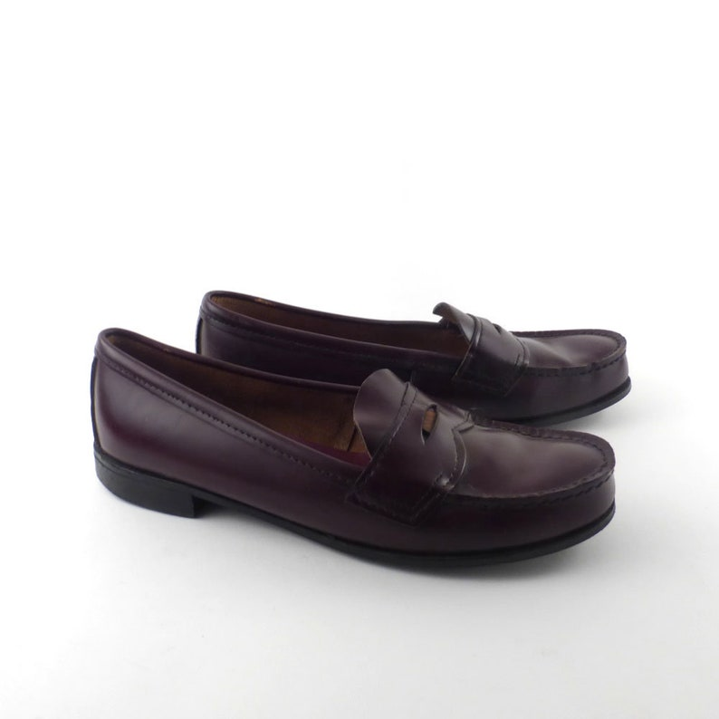 3a3f3221073 Eastland Penny Loafers Vintage 1980s Burgundy Shoes Dress