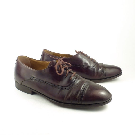 Brown Oxford Shoes Leather Vintage 1980s Paragon M