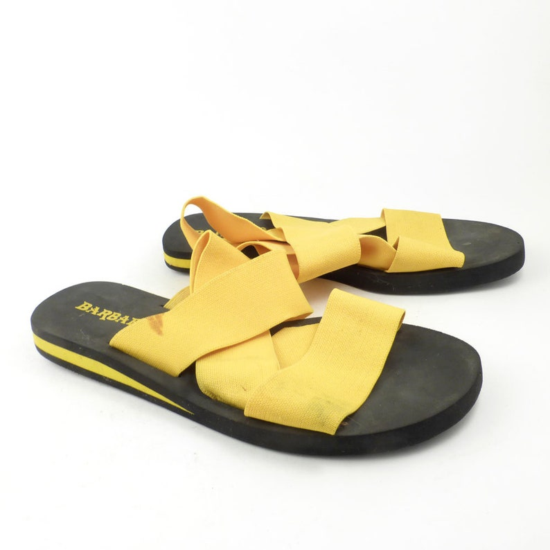 719e16c5d5ab Elastic Sandals Vintage 1980s Flip Flops