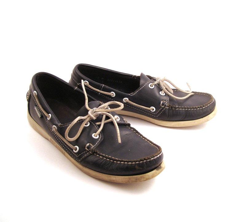9dbf44289b61 Boat Shoes Vintage 1990s Sebago Blue Leather Women s 10 M