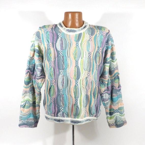 Coogi Sweater Jumper Vintage 1990s Pastel Coogi Sw