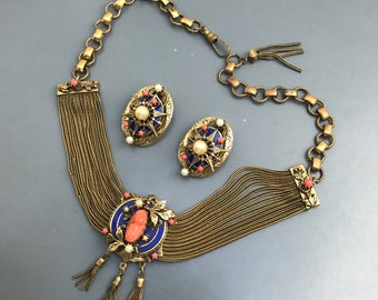 Job Lot 4 Vintage Steampunk Tigereye Beads Necklace Holiday Jewellery Bronze We Take Customers As Our Gods Jewelry & Watches Fashion Jewelry