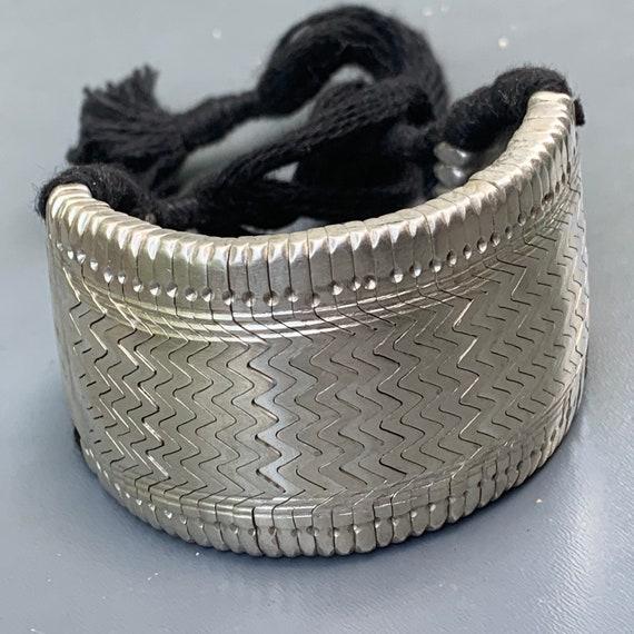Vintage Tribal Silver Arm Band . Bracelet . Upper