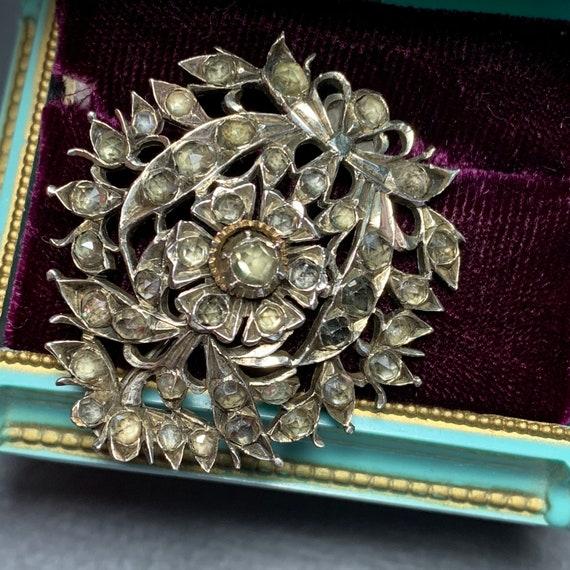 Antique Sri Lankan Indian Silver , Gold jargoon Br