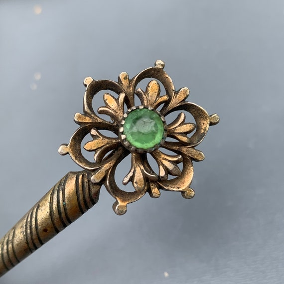 Antique Victorian Hair Pin  , Gold  Gilt  Anglo In