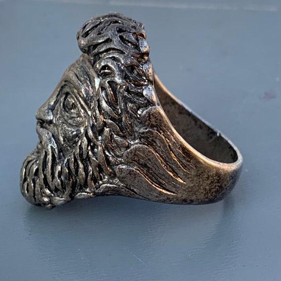 Vtg 925 Sterling Silver Roman God Mercury Design Mens Tie Clip