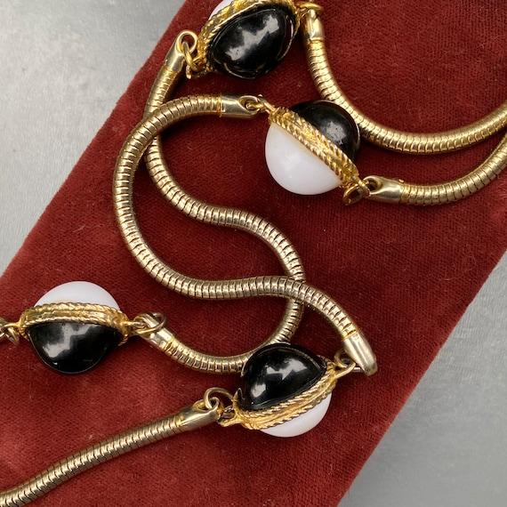 KJL  Necklace  . Snake Chain , Beaded Necklace . K