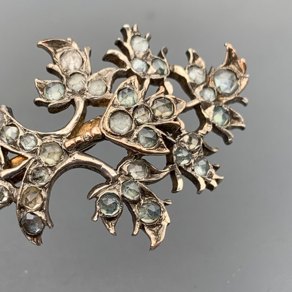 Antique Victorian Pin brooch Silver Jargoon  Anglo
