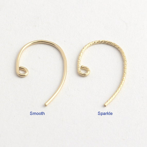 10pcs 14k Yellow Gold Filled Bass Clef Ear Wire E62g