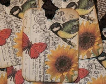 Altered Art Sweet Bird Tags