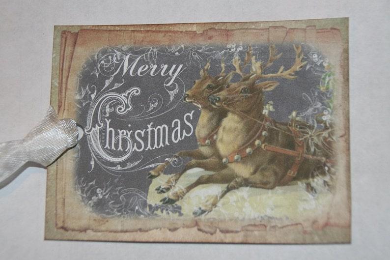 Merry Christmas Gift Tags Christmas Tags Reindeer Christmas Tags Chalkboard Tags