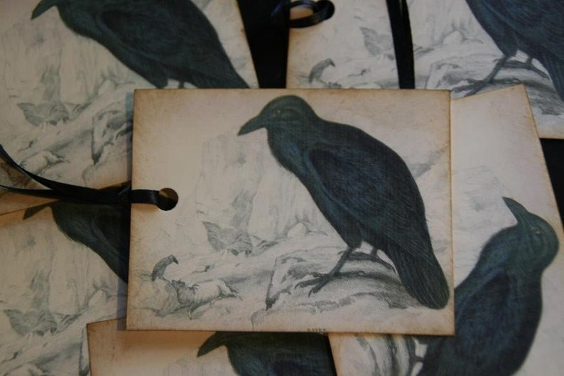 Black Crow Raven Tags