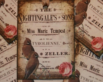 Altered Art Opening Night Gift Tags