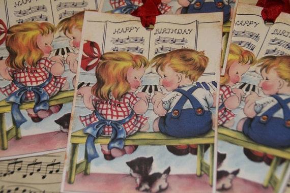 Happy Birthday Piano Music Sheet Themed Boy Or Girl