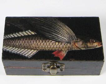 Flying Fish Decoupage Small Box