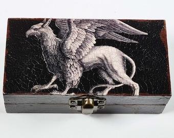 Griffin Decoupage Small Box