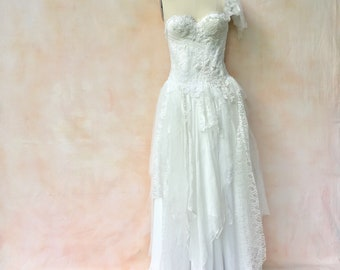 Ivory and silver gown
