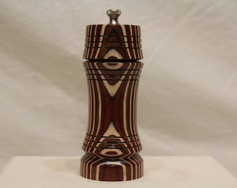 6 Inch BIRCH LAMINANT PEPPERMILL Number 1699