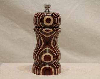 5 Inch LAMINATED BIRCH PEPPERMILL Number1698