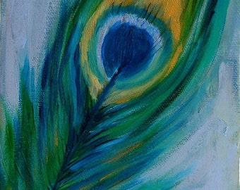 La Penna Delicata- 5 by 7 inch Original Oil on Canvas