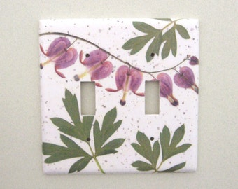 Double bleeding heart light switch cover switchplate