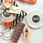 Halloween Pretty Packaging Kit - Halloween Favor Bags - Halloween Treat bags - Bakers Twine - Gift Wrapping Kit - Holiday Packaging