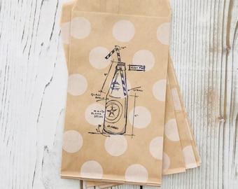 Vintage Soda Pop Bottle Party Bag - Soda Pop Gift Bag - Summer Party - Pop Bottle - Wedding Favor bag - Gift card bag - Treat Bags - Favor