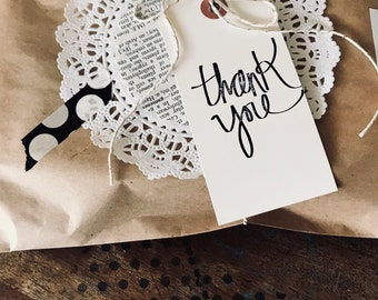 Thank you tags - Thank you gift tag - Wedding thank you tags - Wedding gift tag - Birthday party Thank You - manila tags - Thank You - Party