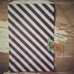 black stripe bags, 6x9