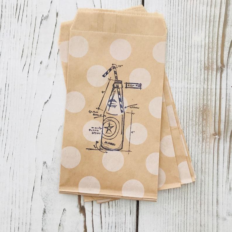 Vintage Soda Pop Bottle Party Bag  Soda Pop Gift Bag  Summer image 0
