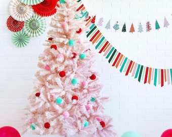 Bright and Festive Holiday Ticker Tape Banner - Colorful Christmas Banner - Christmas Banner - Happy Colorful Christmas Banner My Mind's Eye