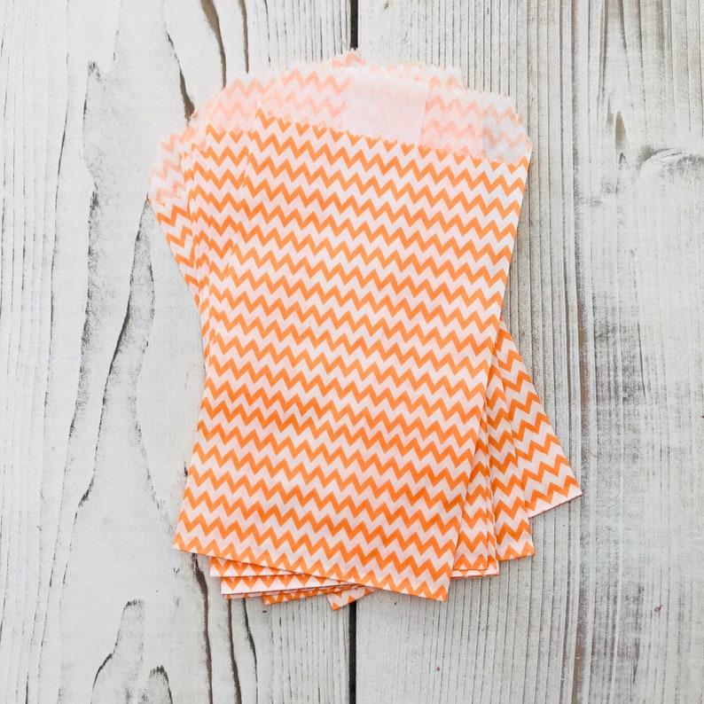 Mini Orange Chevron Party Bag Chevron Party bag Party Sacks image 0