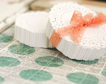 250 lace paper doilies, 4 inch - Lace Paper Doily - White Wedding Lace Paper Doilies - Baking Doily - Grease Proof Doily - Gift Wrap Doilies