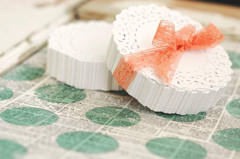 50 lace paper doilies 4 inch Lace Paper Doilies  Paper image 0