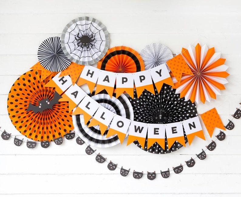 Happy Halloween Banner  Happy Halloween Garland  Happy image 0