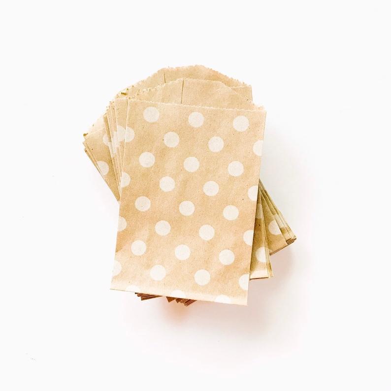 Mini Kraft Polka Dot Bags  Kraft Polka Dot Party Bag  Party image 0
