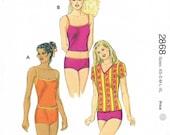 Sewing Pattern Boy Cut Underwear Panties Tankini  Shirt Undergarments  Kwik Sew 2868 Bust 31.5 32.5 34 35.5 37 38.5 40 41.5 43 45 Misses