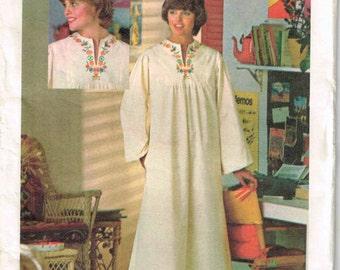 Easy McCalls M9357 Sewing Pattern Caftan Muu Muu Tunic Top Dress Beach Cover-up